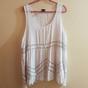 White heart polka dot blouse